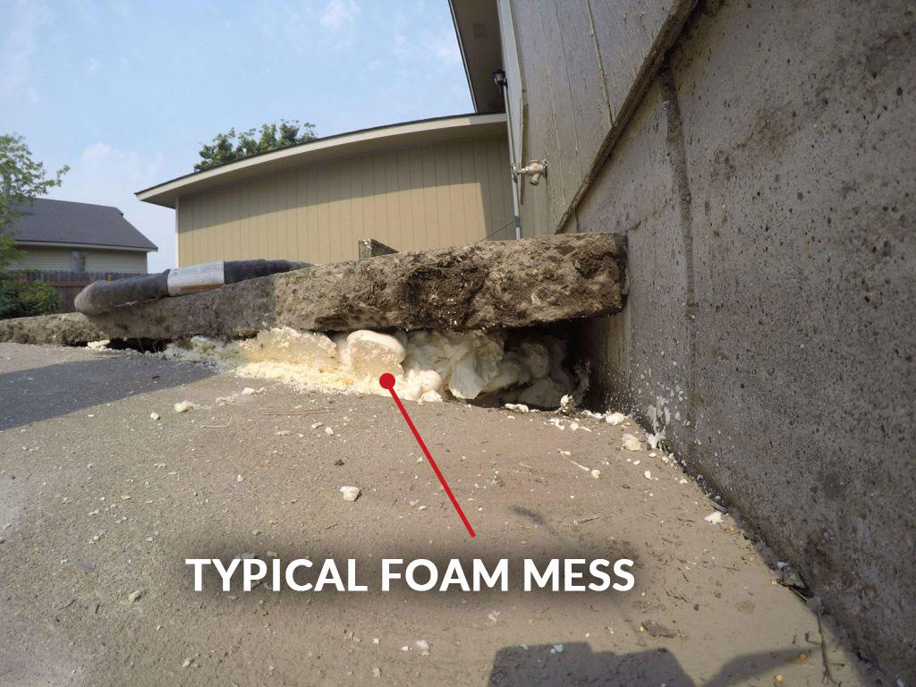 Typical Foam Mess